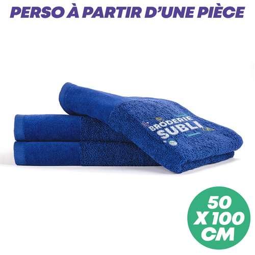 Serviettes de toilette (50x100) - Serviette de toilette personnalisée 50x100 cm 500 gr/m² - Deluxe - Pandacola