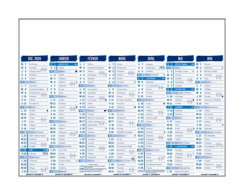 Calendrier bancaire - Calendrier bancaire à personnaliser 14 mois 55 x 40.5 cm | Standard - Pandacola