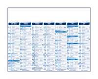Calendrier bancaire à personnaliser 14 mois 43 x 33.5 cm | Standard - Pandacola