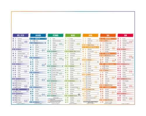 Calendrier bancaire - Calendrier bancaire personnalisable 14 mois 43 x 33.5 cm | 4 Saisons - Pandacola