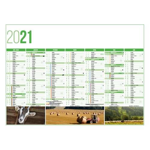 Calendrier bancaire - Calendrier bancaire personnalisable 43 x 37.5 cm | Agriculture - Pandacola