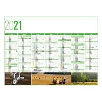 Calendrier bancaire personnalisable 43 x 37.5 cm | Agriculture - Pandacola