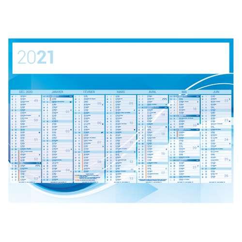Calendrier bancaire - Calendrier bancaire personnalisable 27 x 21 cm | Abstrait - Pandacola