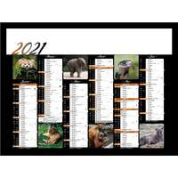 Calendrier bancaire personnalisable 43 x 37.5 cm | Animaux sauvages - Pandacola