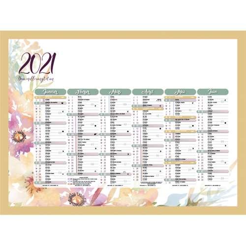 Calendrier bancaire - Calendrier bancaire personnalisable 27 x 21 cm | Aquarelle - Pandacola