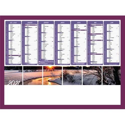 Calendrier bancaire - Calendrier bancaire personnalisable 55 x 40.5 cm | Coucher de soleil - Pandacola
