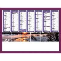 Calendrier bancaire personnalisable 43 x 37.5 cm | Coucher de soleil - Pandacola