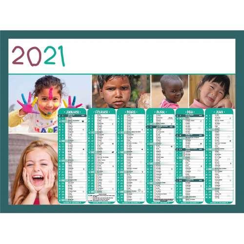 Calendrier bancaire - Calendrier bancaire personnalisable 43 x 37.5 cm | Enfant du monde - Pandacola