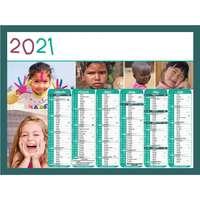Calendrier bancaire personnalisable 43 x 37.5 cm | Enfant du monde - Pandacola