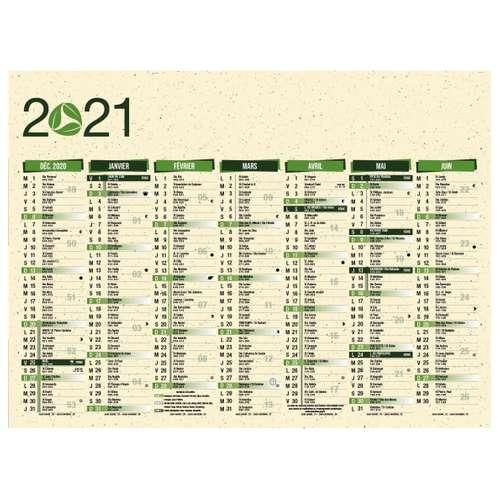 Calendrier bancaire - Calendrier bancaire personnalisable 55 x 40.5 cm | Eco - Pandacola