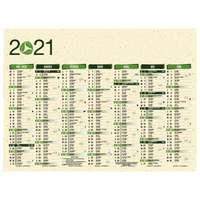 Calendrier bancaire personnalisable 43 x 37.5 cm | Eco - Pandacola