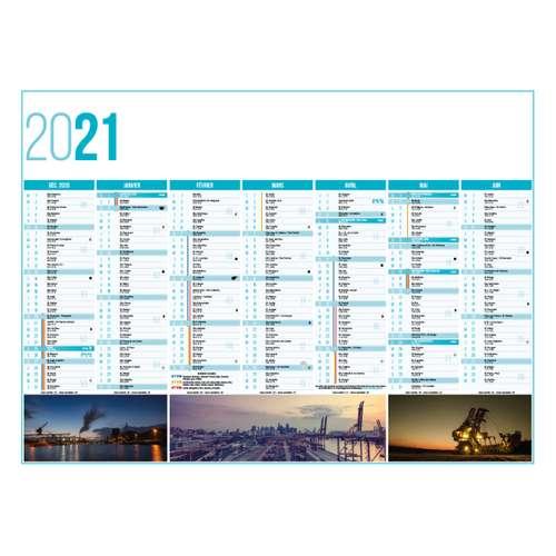 Calendrier bancaire - Calendrier bancaire personnalisable 27 x 21 cm | Industrie - Pandacola