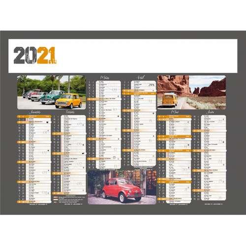 Calendrier bancaire - Calendrier bancaire personnalisable 27 x 21 cm | Voiture - Pandacola