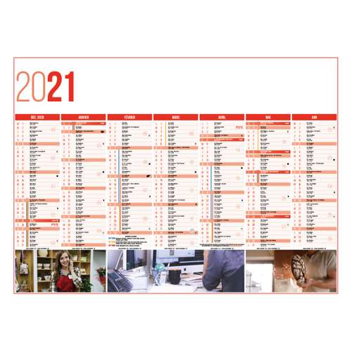 Calendrier bancaire - Calendrier bancaire personnalisable 27 x 21 cm | Service - Pandacola