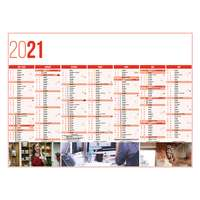Calendrier bancaire personnalisable 27 x 21 cm | Service - Pandacola