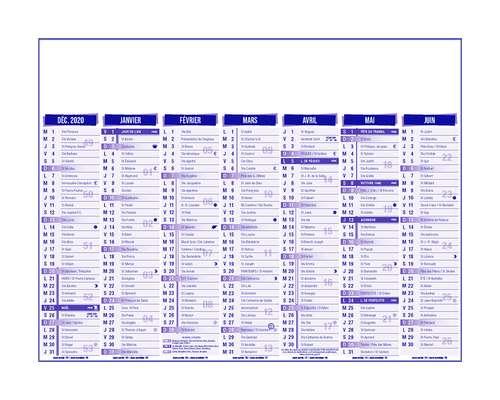 Calendrier bancaire - Calendrier bancaire personnalisable 27 x 21 cm | Premium - Pandacola