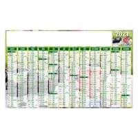 Calendrier bancaire personnalisé fruits & légumes de saison | Jardinage - Pandacola