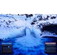 Calendrier personnalisable à feuillet 45 x 40 cm   Cascades et torrents - Pandacola