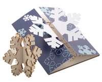 Carte de vœux personnalisable avec un puzzle en bois flocon - Creax Plus - Pandacola