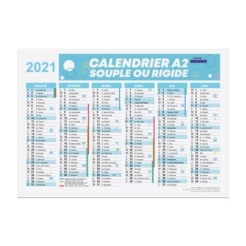Calendrier de bureau - Calendrier publicitaire 2021 recto/verso format A2 - Bartow - Pandacola