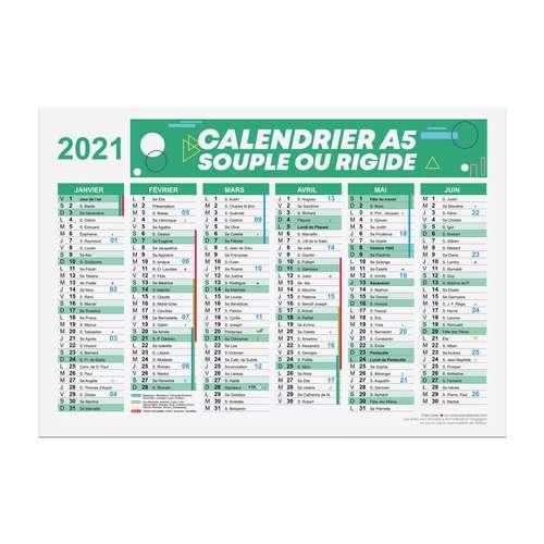 Calendrier de bureau - Calendrier publicitaire 2021 recto/verso format A5 - Alford - Pandacola