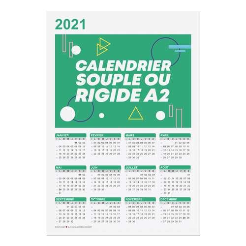 Calendrier de bureau - Calendrier publicitaire 2021 recto format A2 - Branford - Pandacola