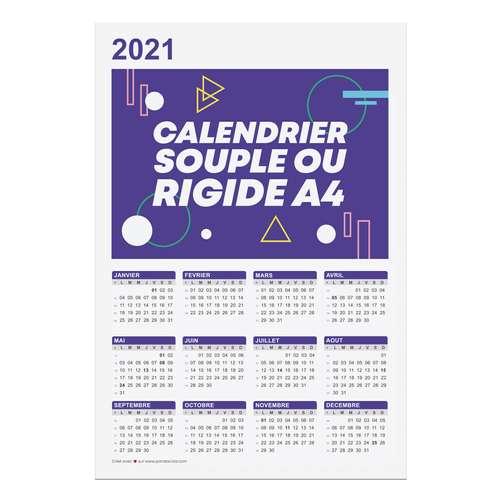 Calendrier de bureau - Calendrier personnalisable 2021 recto format A4 - Bonifay - Pandacola