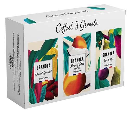 Paniers gourmands produits sucrés - Coffret Granola sucrés - Made in France - Pandacola