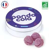 Boîte métal  50g de bonbons BIO 100% français à personnaliser - Pandacola