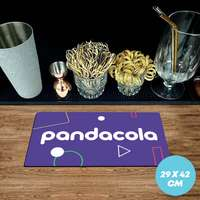 Tapis de comptoir publicitaire en caoutchouc 1,5 mm - 29x42 cm - Pandacola
