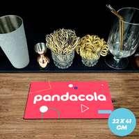 Tapis de bar publicitaire caoutchouc 1,5 mm - 22x41cm - Pandacola