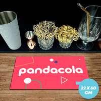 Tapis de bar publicitaire caoutchouc 1,5 mm - 22x60cm - Pandacola
