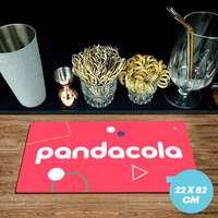 Tapis de bar publicitaire caoutchouc 1,5 mm - 22x82cm - Pandacola