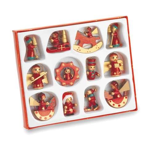 Autres décorations de Noël - Set de décorations publicitaire de noël pour sapin (12 pièces) - Sanfam - Pandacola