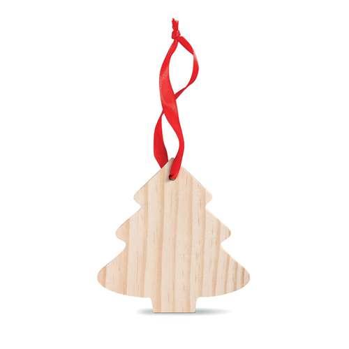 Autres décorations de Noël - Sapin de noël publicitaire en bois à accrocher - Roubo - Pandacola