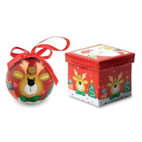 Boules de Noël - Boule de noël publicitaire décorée avec boîte cadeau - Boliam - Pandacola