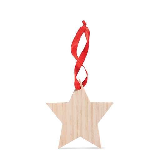Autres décorations de Noël - Etoile de noël publicitaire en bois à accrocher - Rouba - Pandacola