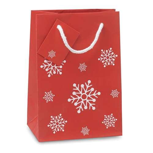 Sacs cadeaux - Sac publicitaire cadeau de noël avec motifs flocons - Clausbag - Pandacola