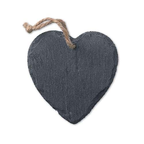 Autres décorations de Noël - Ardoise personnalisée en forme de cœur avec cordelette - Plate Heart - Pandacola