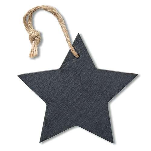 Autres décorations de Noël - Ardoise personnalisée en forme d'étoile avec cordelette - Plate Star - Pandacola
