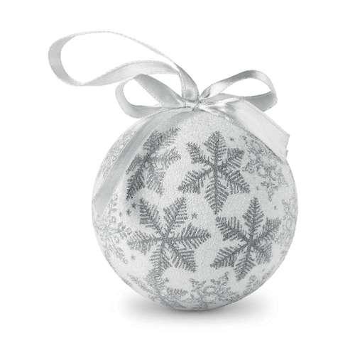 Boules de Noël - Boule de noël publicitaire finition perlée avec ruban - Boliruby - Pandacola