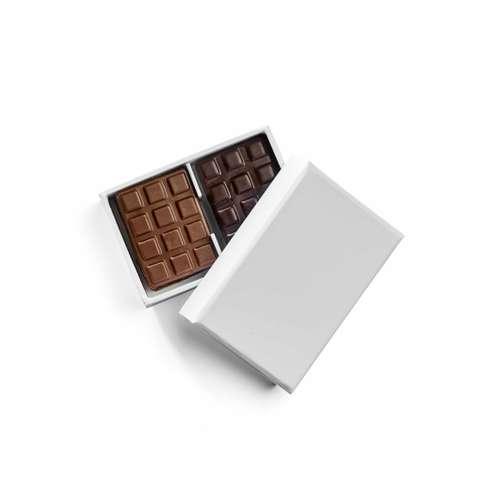 Boîtes de chocolat - Boîte de chocolat 40g personnalisable en carton - Pandacola
