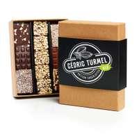 Coffret de mini-tablettes au chocolat 150g - Kraft - Pandacola