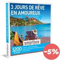 Coffret cadeau Séjour - 3 jours de rêve en amoureux |Smartbox - Pandacola