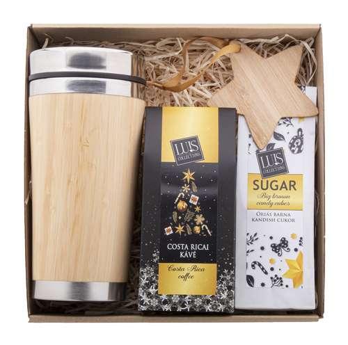Paniers gourmands produits sucrés - Coffret cadeau personnalisé coffee lover - Brunca - Pandacola