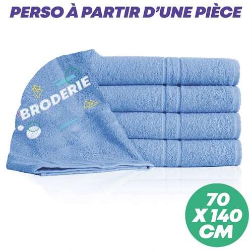 Drap de douche (70x140) - Drap de douche personnalisé 70x140 cm 400 gr/m² - Quality - Pandacola