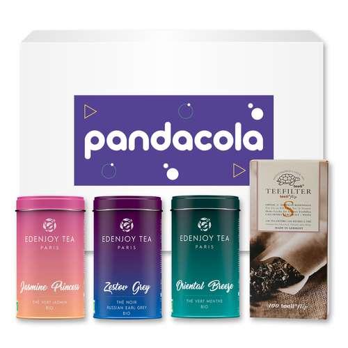 Thés - Coffret personnalisable composé de 3 boites de thé - Pandacola