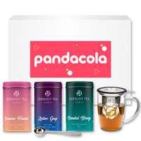 Coffret personnalisable composé de 3 boites de thé et d'un mug - Pandacola