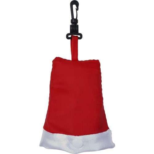 Sacs shopping - Tote bag publicitaire en forme de bonnet de noël avec pochette et mousqueton - Cometa - Pandacola
