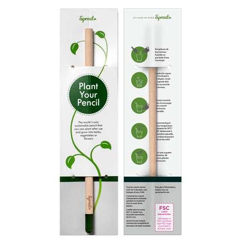 Crayons à planter - Crayon à papier personnalisé avec graines à planter packaging standard | Sprout - Pandacola